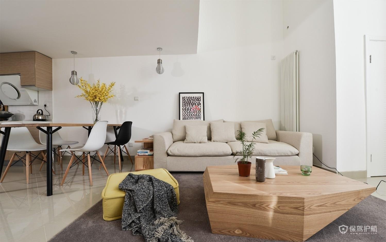 60平日式小户型客厅装修效果图