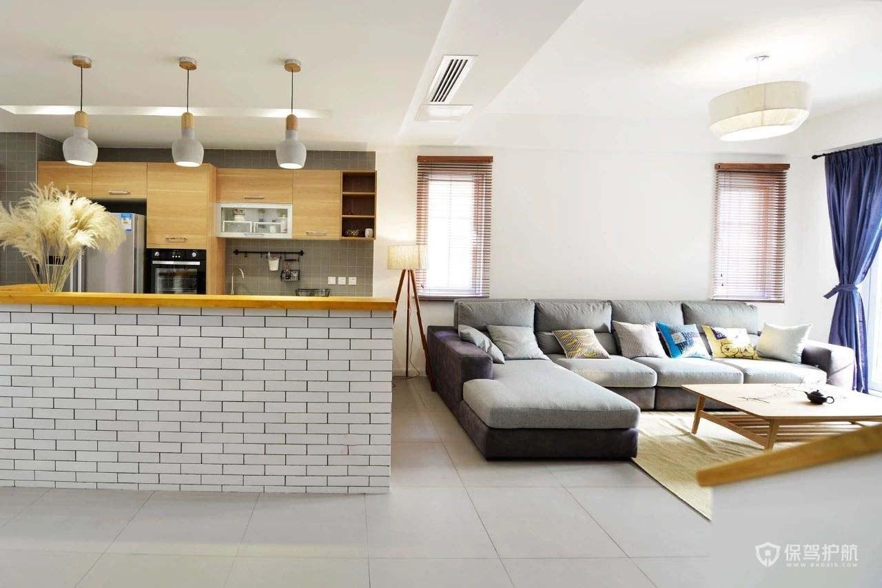 70平日式小躍層客廳裝修效果圖