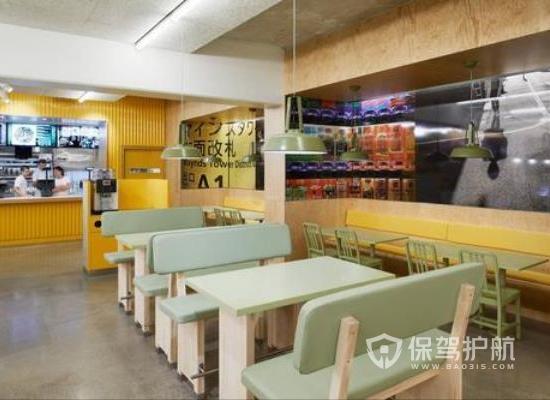 39平米日式风格快餐店装修实景图