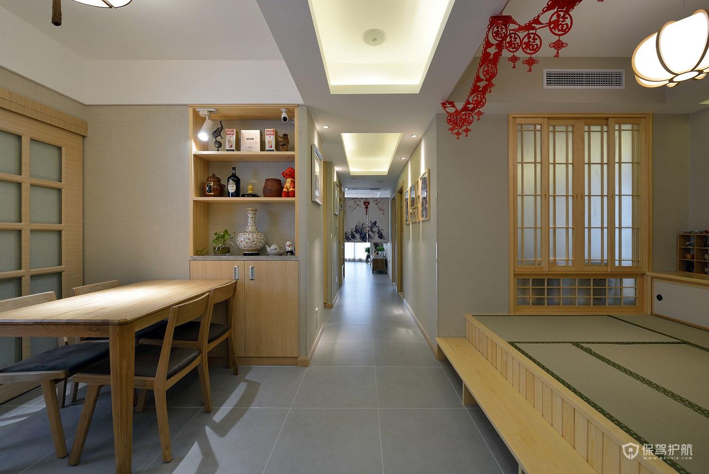 110平日式風三居室餐廳裝修效果圖