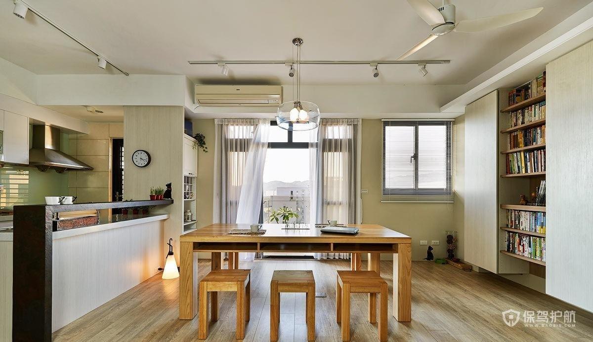 90平日式三居室餐厅装修效果图
