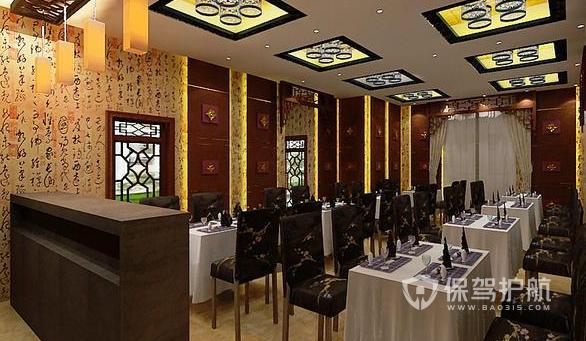 28平米中式风格快餐店装修实景图