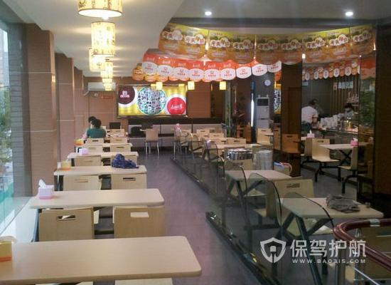 62平米现代风格快餐店装修实景图