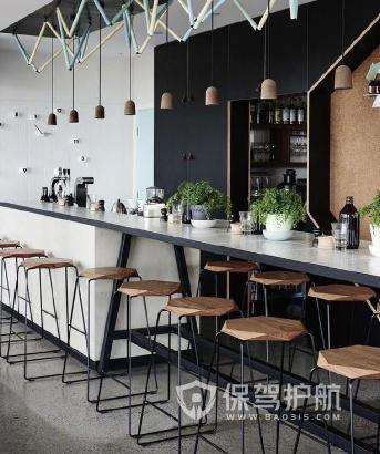 45平米工业风格快餐店装修实景图