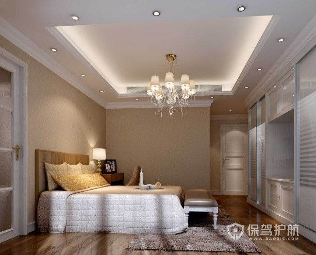 162平美式臥室吊頂裝修效果圖