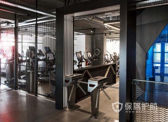 55平米工業風格健身房裝修實景圖