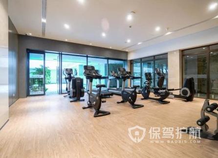66平米簡約風格健身房裝修實景圖