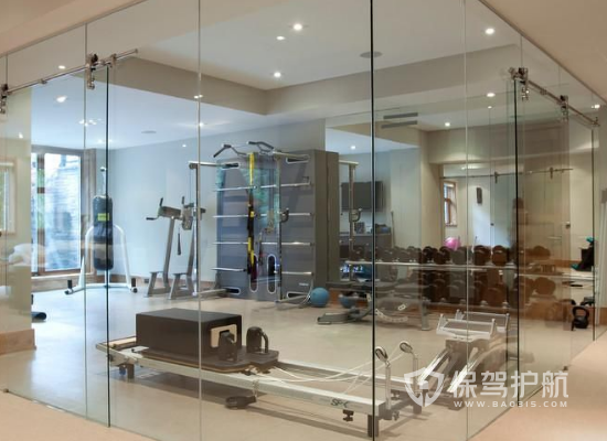 23平米簡約風格健身房裝修實景圖