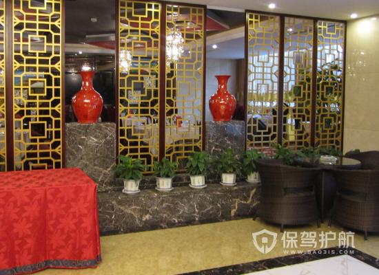 中式風格酒店隔斷裝修實景圖