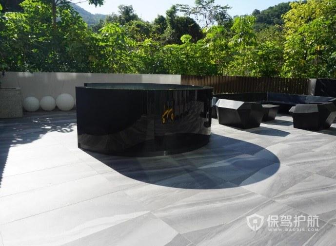 簡歐風露臺花園地板裝修效果圖