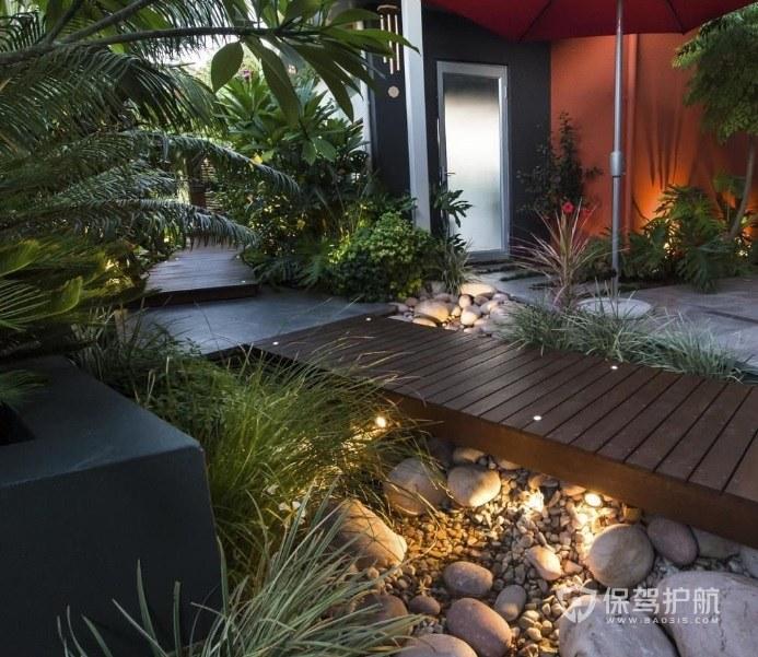 320平門口花園木地板裝修效果圖