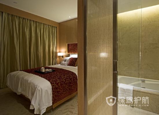 現代簡約風格酒店客房裝修實景圖