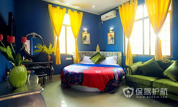 东南亚风格酒店客房装修实景图