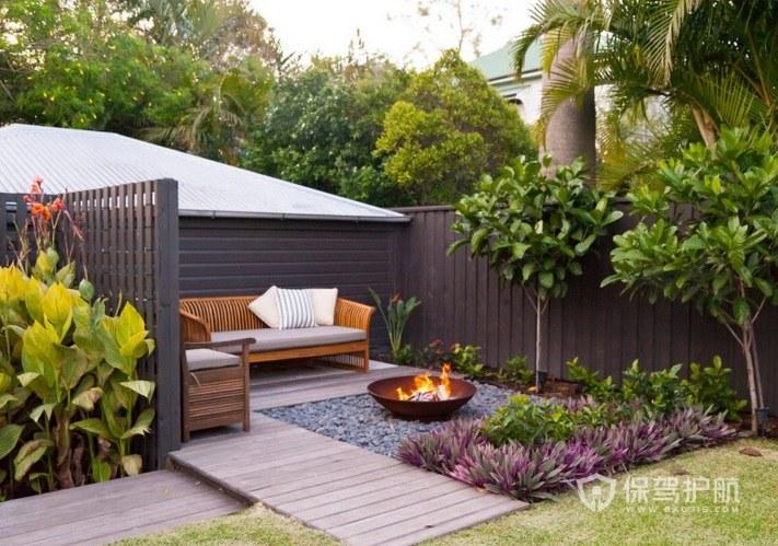 东南亚风庭院花园地板装修效果图