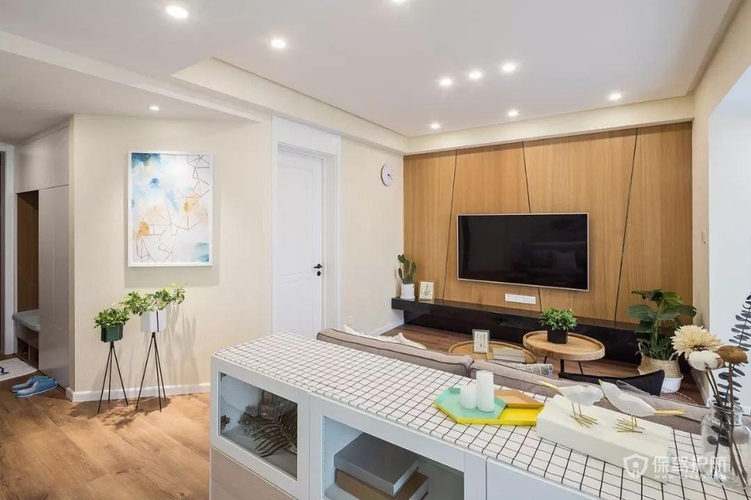 50平北欧风一居室小公寓客厅亚搏体育平台app效果图