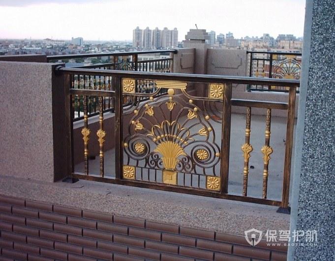 中式别墅阳台铁艺围栏亚搏体育平台app效果图