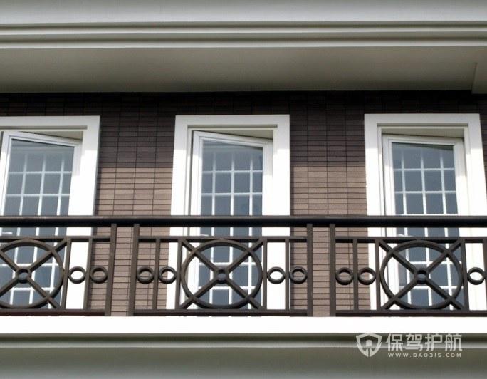 经典美式阳台铁艺围栏亚搏体育平台app效果图