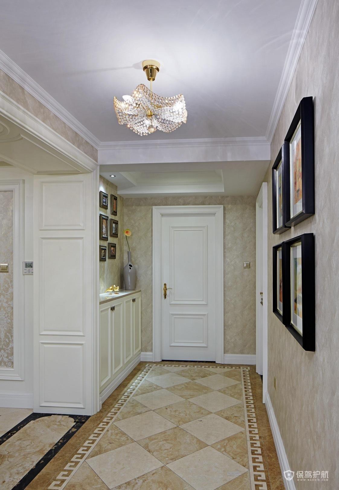 欧式风格三居室玄关装修效果图