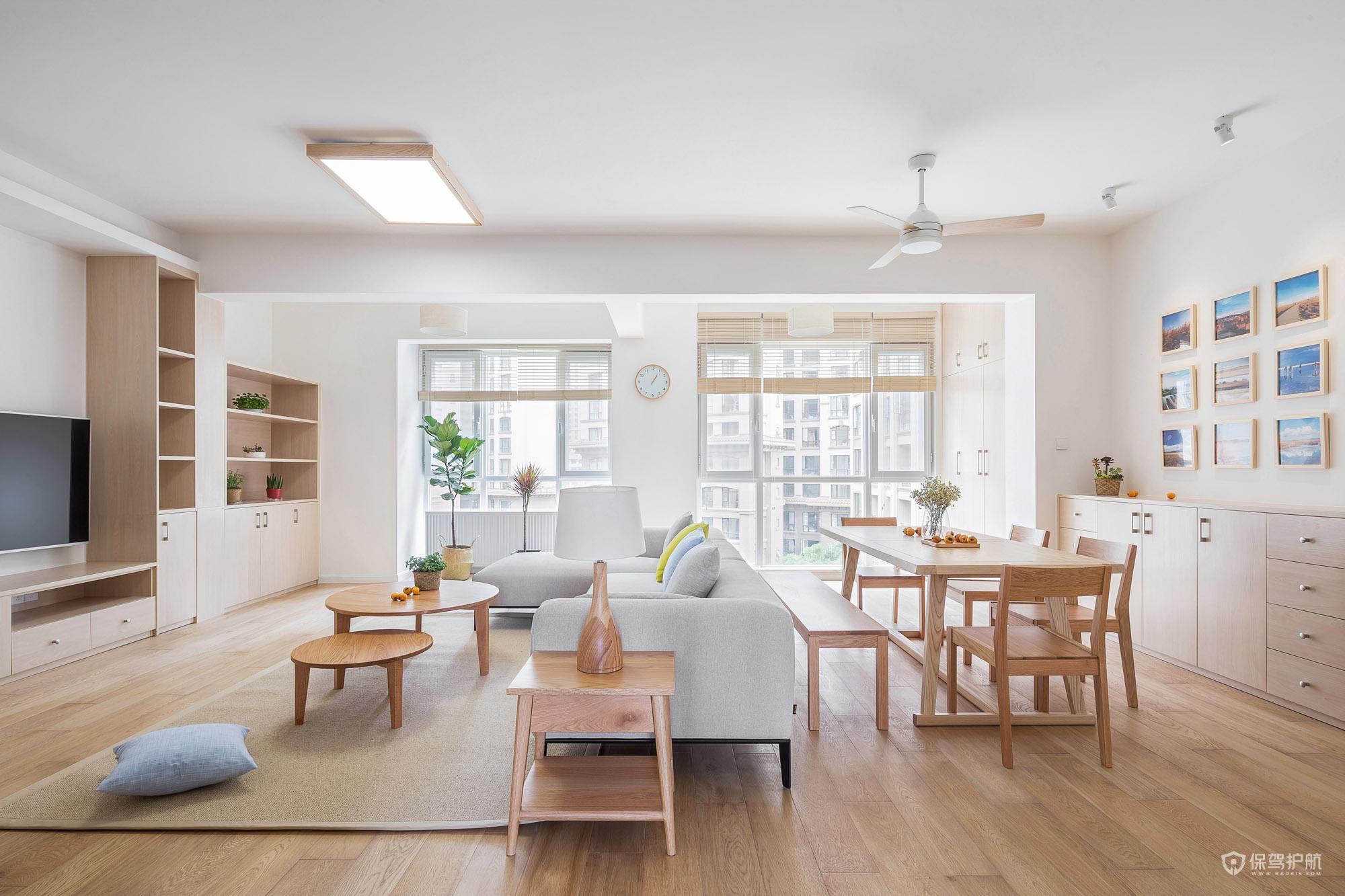簡潔日式三居室客餐廳裝修效果圖