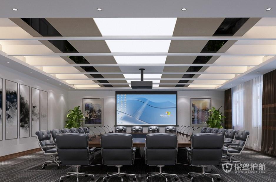 新中式古典豪華會議室裝修效果圖