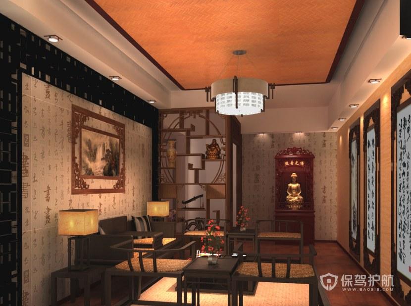中式風格辦公待客室裝修效果圖
