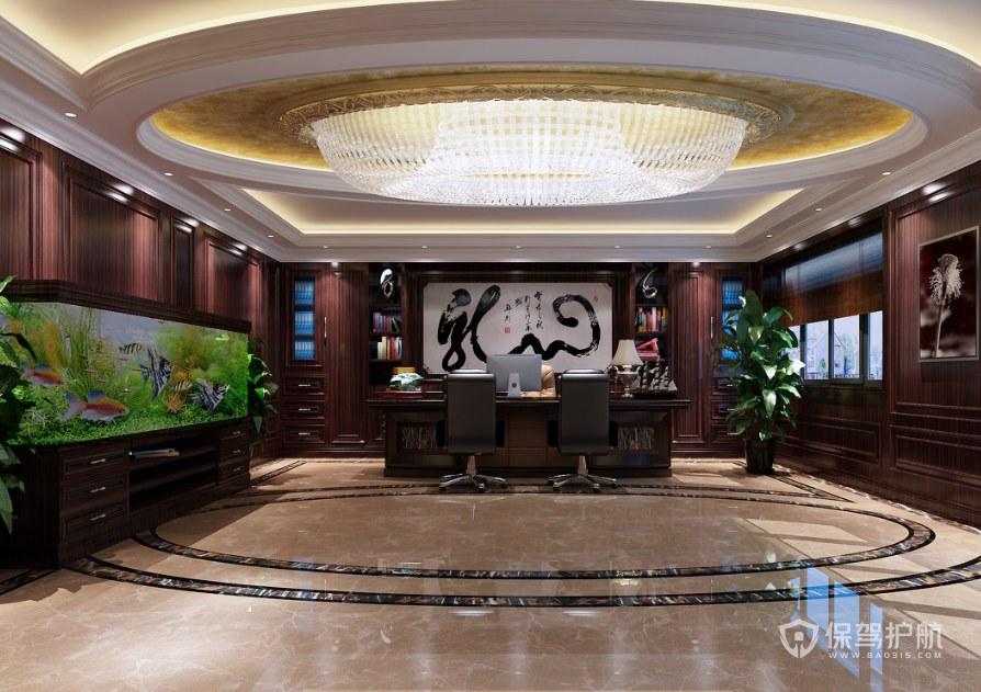 中式古典副總辦公室裝修效果圖