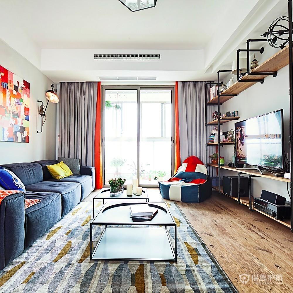簡約美式公寓客廳裝修效果圖