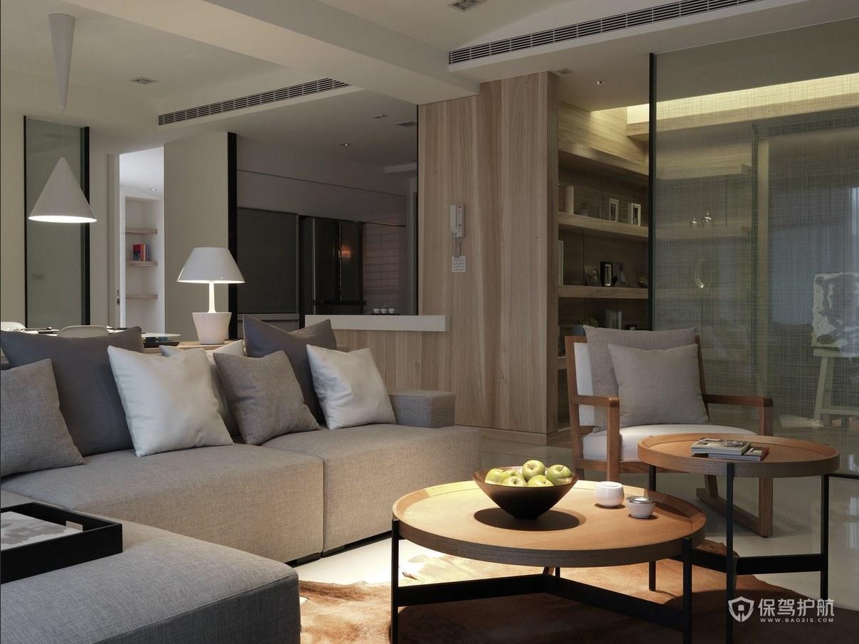100平簡約三居室客廳裝修效果圖