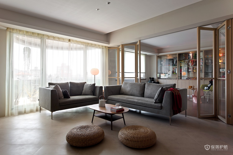 140平現代日式三居室客廳隔斷裝修效…