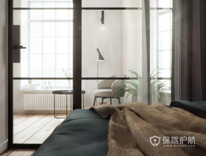 臥室陽臺推拉玻璃門裝修效果圖