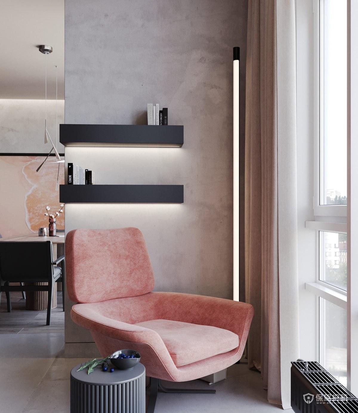 家裝粉色搭配效果圖-保駕護航裝修網