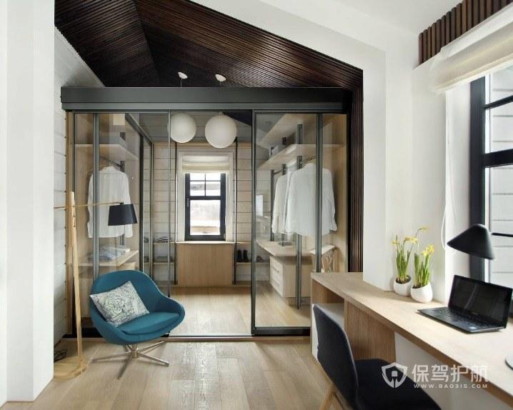 公寓臥室隔斷玻璃門裝修效果圖