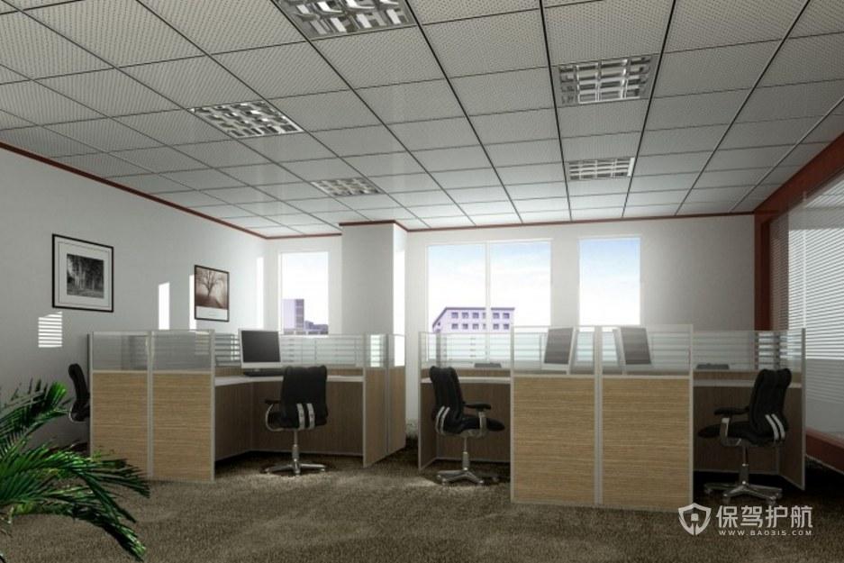 現代簡約風辦公區裝修效果圖