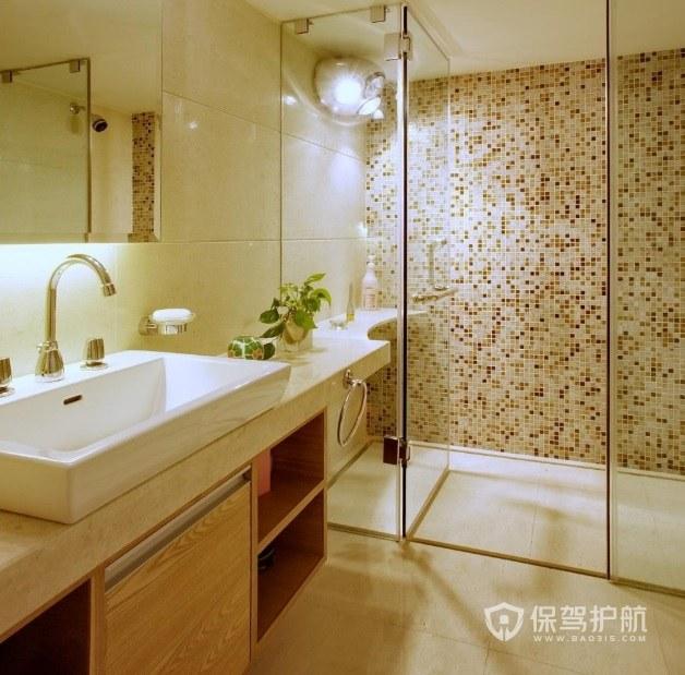 現代風衛生間馬賽克瓷磚裝修效果圖
