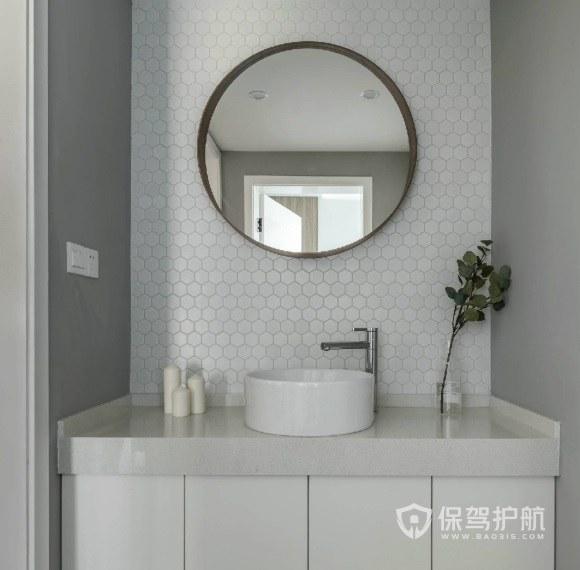 洗手臺墻面馬賽克瓷磚裝修效果圖