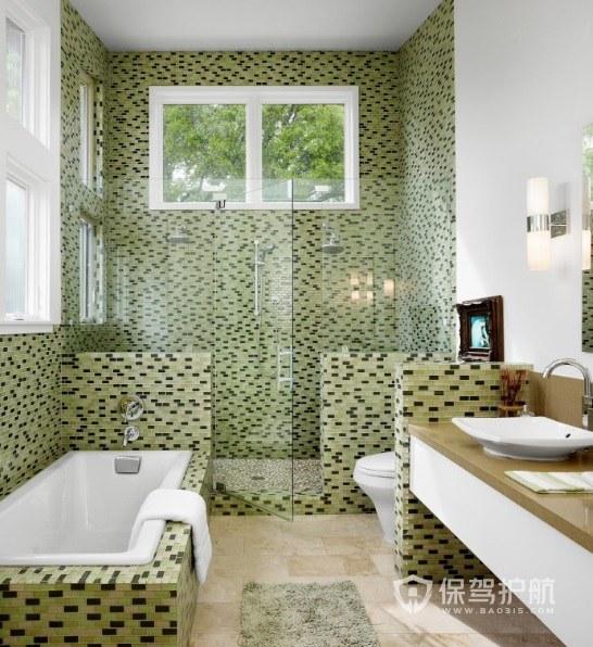 卫生间马赛克瓷砖创意装修效果图