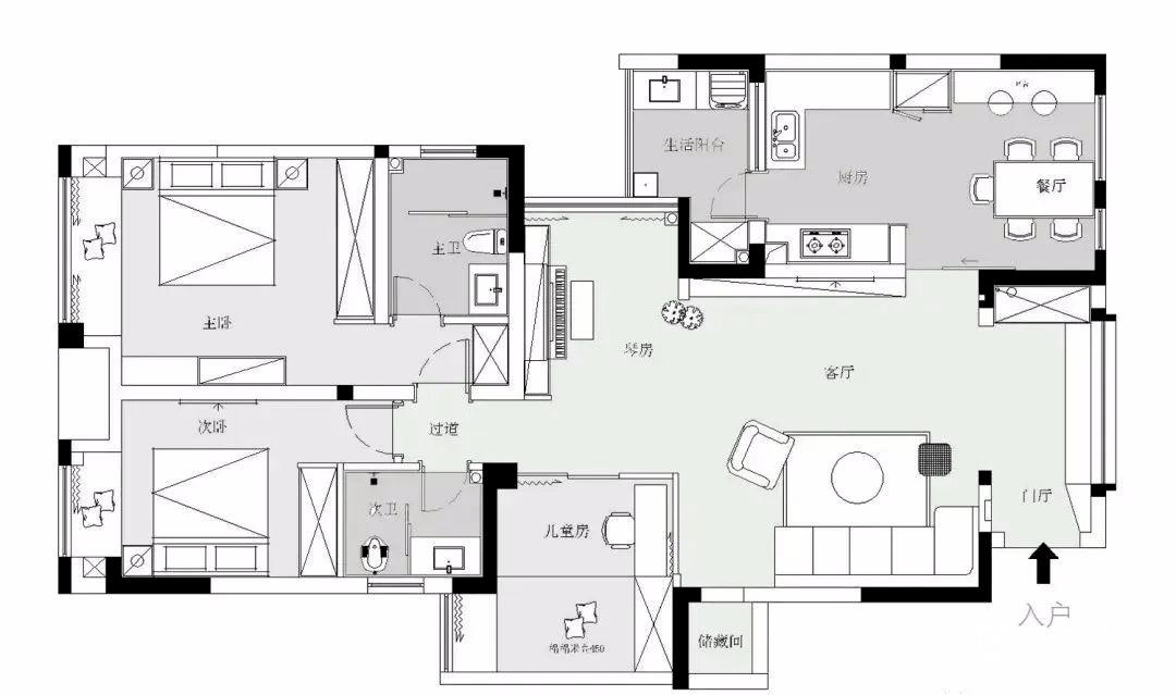 130平米房子30萬裝修效果圖-保駕護航裝修網