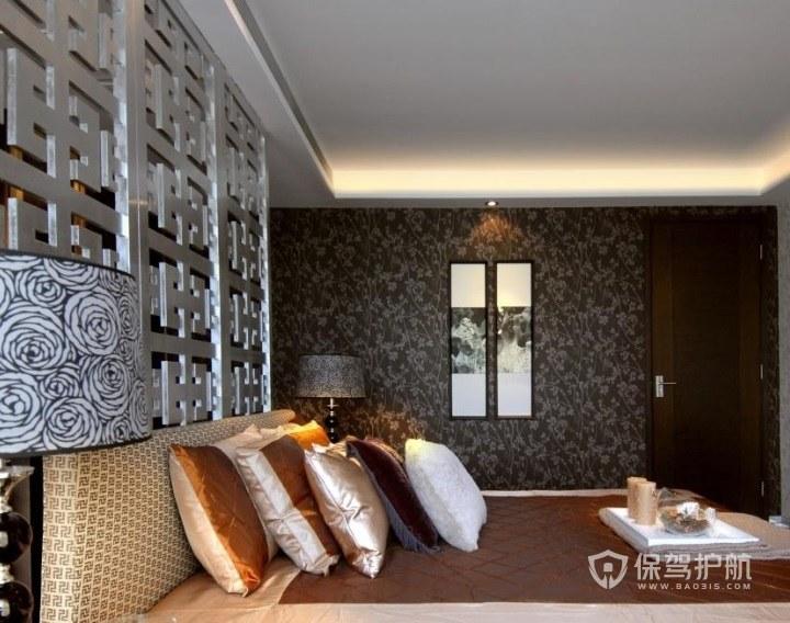 250平东南亚风主卧背景墙装修效果图…