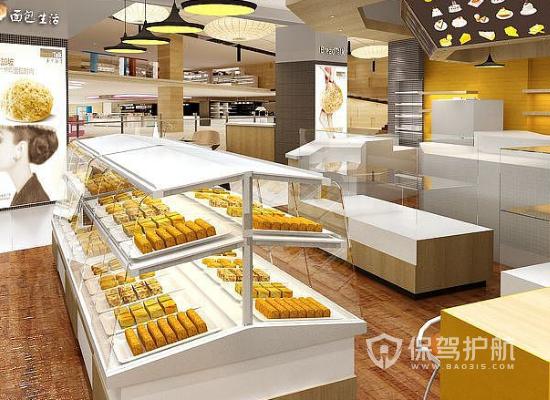 18平米簡約風格面包店裝修實景圖