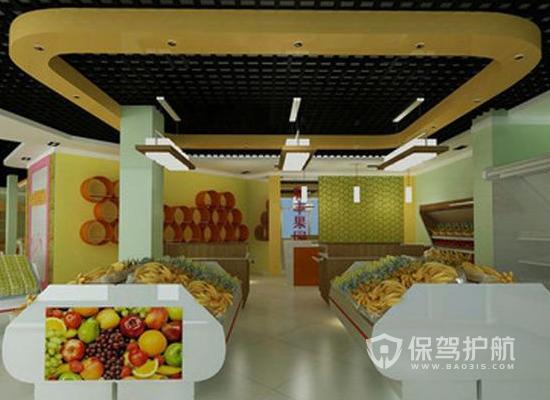 14平米現代風格水果店裝修效果圖