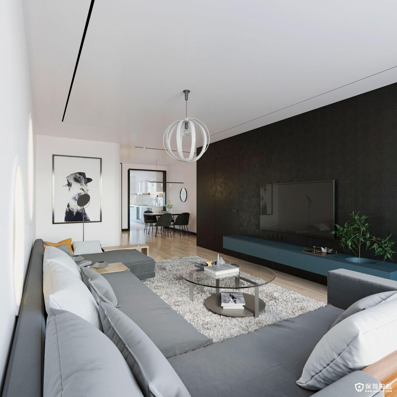 冠亞星城現代簡約風格四居室裝修效果圖