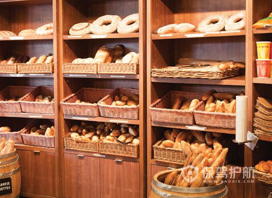 40平米法式風格面包店裝修實景圖