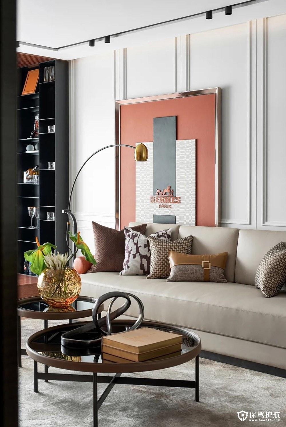 白鷺金岸現代輕奢家三居室裝修效果圖