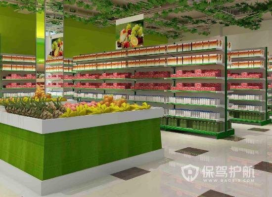 85平米現代風格水果店裝修效果圖