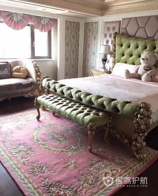172平欧式风格卧室地毯装饰效果图