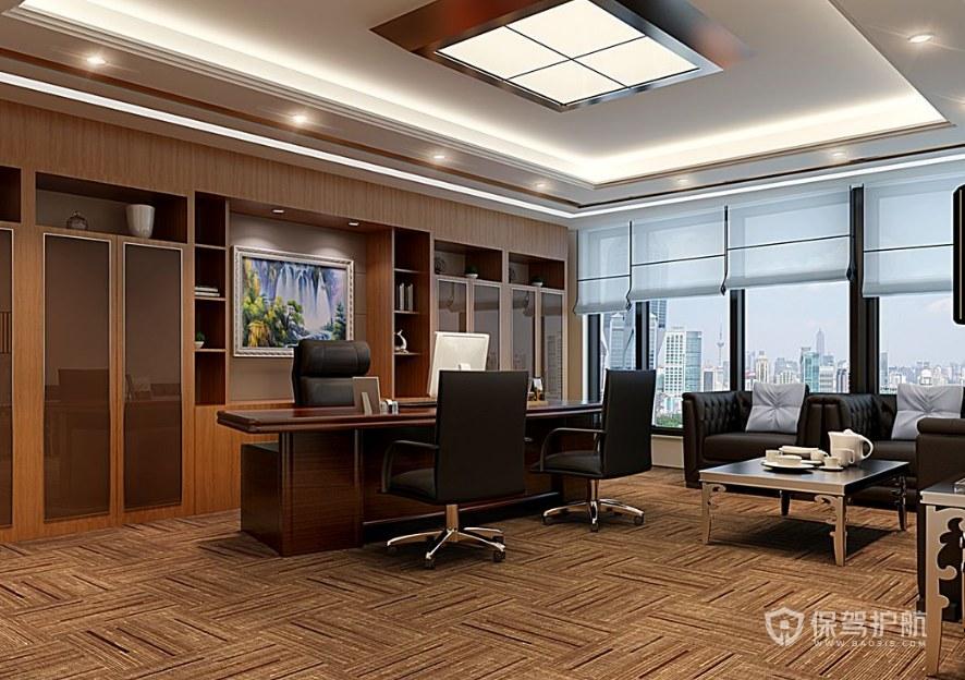 中式古典風格副總辦公室裝修效果圖