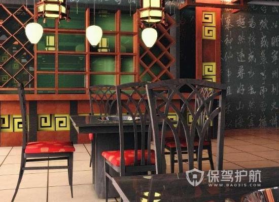 116平米中式風格火鍋店裝修實景圖
