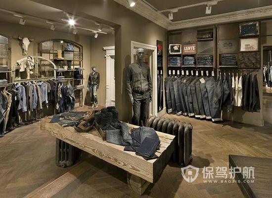 13平米工業風格服裝店裝修實景圖