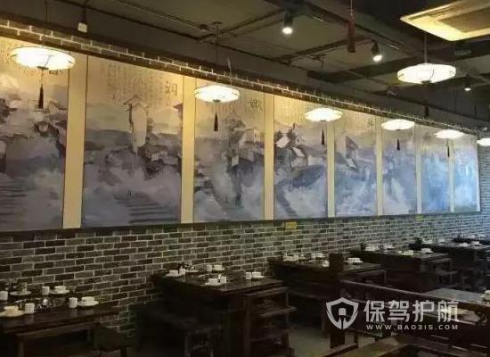 59平米中式風格火鍋店裝修實景圖