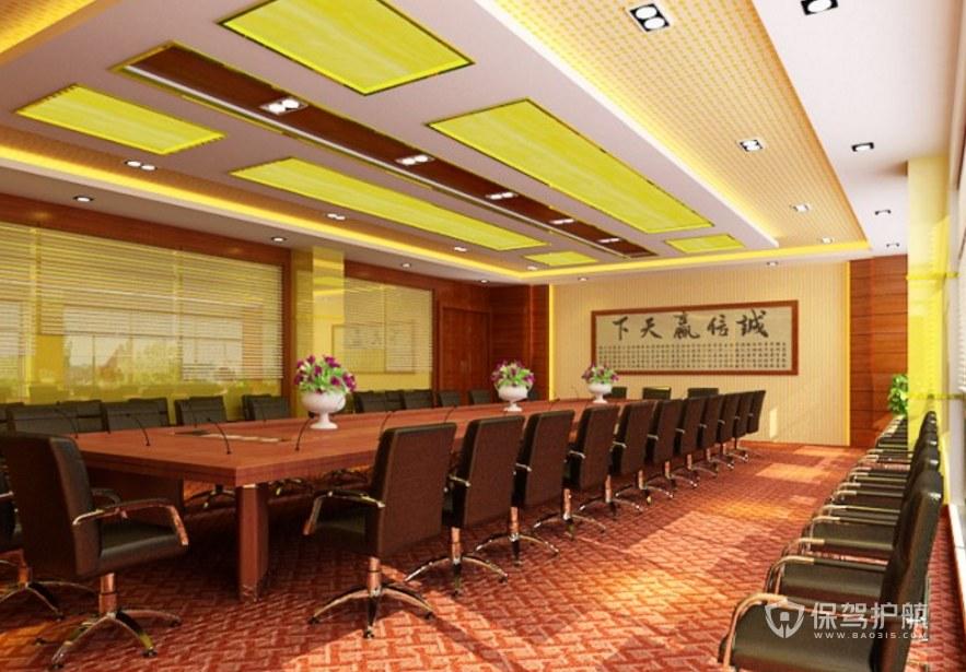 復古古典風辦公會議室裝修效果圖